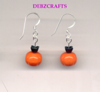Halloween Pumpkin Earrings.